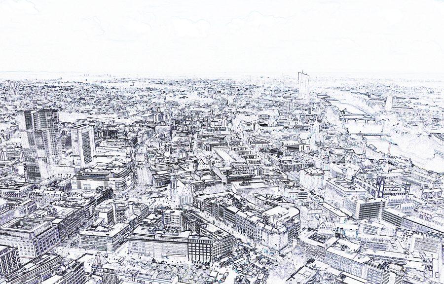 Frankfurt City Grafik